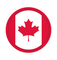 canada day canadian flag patriotic badge flat vector image