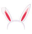 cartoon pastel bunny party ears vector image vector image