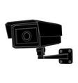 cctv security camera black outline vector image vector image