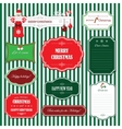 Christmas and Happy New Year frames and banners vector image vector image