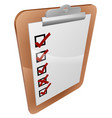 clipboard survey vector image