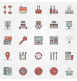 Colorful hotel icons vector image