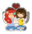 couple relaxing and meditation icon vector image vector image