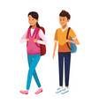 couple student avatars vector image
