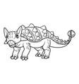 cute cartoon dinosaur ankylosaurus character vector image