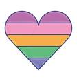 cute rainbow colour heart love vector image