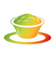 delicious cheese sauce isolated icon vector image