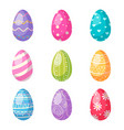 easter eggs cartoon set vector image vector image