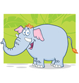 Elephant Cartoon Character vector image vector image