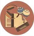 emblem retro music in disc vector image