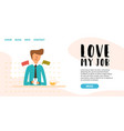 flat young guy workplace send text message vector image