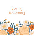 floral backdrop with place for text and decorated vector image
