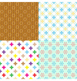 four retro abstract seamless simple patterns eps10 vector image vector image