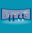 front screen for data analysis business vector image
