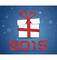 Gift box 2015 vector image vector image