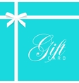 Gift card on blue bow with vector image vector image