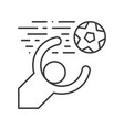 goal keeper soccer icon outline vector image