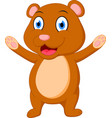 happy brown bear cartoon vector image