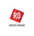 initial letter rd logo template design vector image vector image
