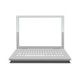 laptop with blank screen vector image vector image