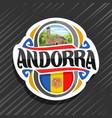 logo for andorra vector image vector image