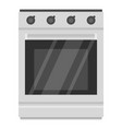 modern gas oven icon cartoon style vector image