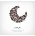 moon people sign 3d vector image vector image
