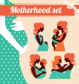 Motherhood set vector image