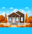 mountain landscape with family house in fall seaso vector image