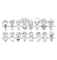 nationalities funny cartoon character vector image