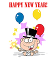 New years baby cartoon vector image vector image