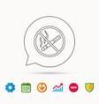 no smoking icon stop smoke sign vector image