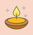 oil lantern for ramadan mubarak vector image vector image