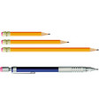 pencil and automatic pencil vector image vector image