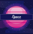 planet space universe icon vector image vector image