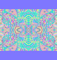 psychedelic tribal colorful surreal doodle pattern vector image vector image