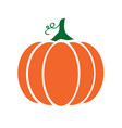 pumpkin with swirls vector image vector image