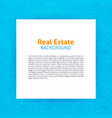 real estate paper template vector image vector image