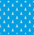rocket galaxy pattern seamless blue vector image vector image
