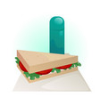 sandwich and thermos vector image vector image