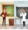 School Lessons Cartoon Vertical Banners vector image