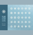 set of christmas snowflakes on blue background vector image