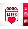 Set of otline valentines calendar reminder vector image vector image