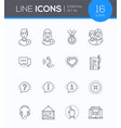 social media - modern line design style icons set vector image
