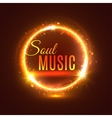 Soul music poster with light shine vector image