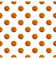 swirl biscuit pattern seamless vector image vector image