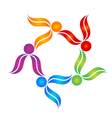 Teamwork people colorful logo vector image vector image
