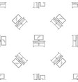 tv home cinema pattern seamless vector image