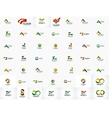 universal mega set of company logos vector image vector image