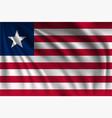 waving liberia vector image vector image